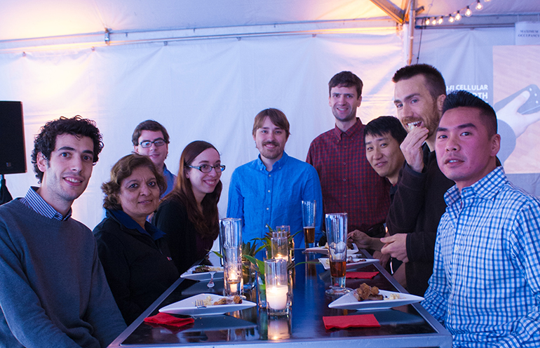 Antonio, Manisha, Jackie, Kuan, Andrew, and Darrel hanging out with some friends.