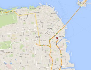 Map of San Francisco Office