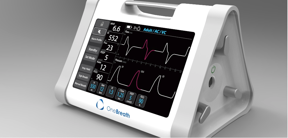 Medical Device Ventilator Graphical User Interface GUI